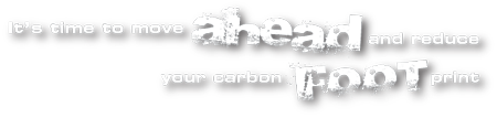 think ahead and reduce your carbon footprint